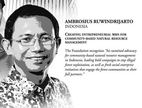 Ambrosius Ruwindrijarto: Aktivis Lingkungan Penerima Ramon Magsaysay Award2012