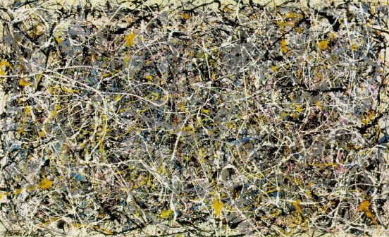 """Number 1"" (1949) karya Jackson Pollock. Kini dipajang di Museum of Contemporary Art, Los Angeles."
