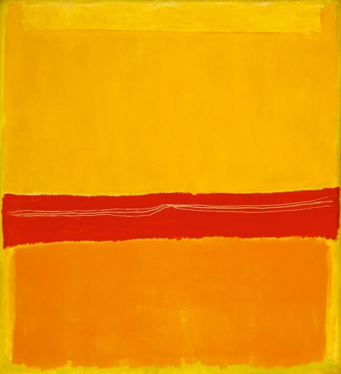 """No 5/No 22"" (1950) karya Mark Rothko. Kini dipajang di Museum of Modern Art, New York."