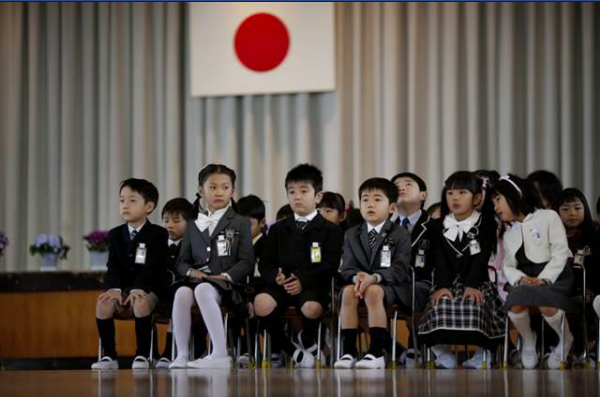 Anak-anak SD di Jepang. Sumber foto: halaman facebook Bidrians Abidin