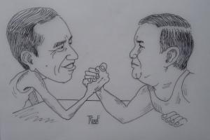 Sumber gambar: http://hiburan.kompasiana.com/humor/2014/04/07/inilah-kartun-perdana-saya-jokowi-versus-prabowo-647252.html